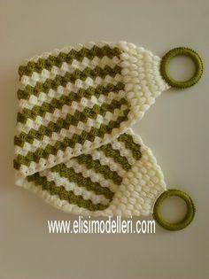 Yeşil Beyaz Lif   Elişi Modelleri