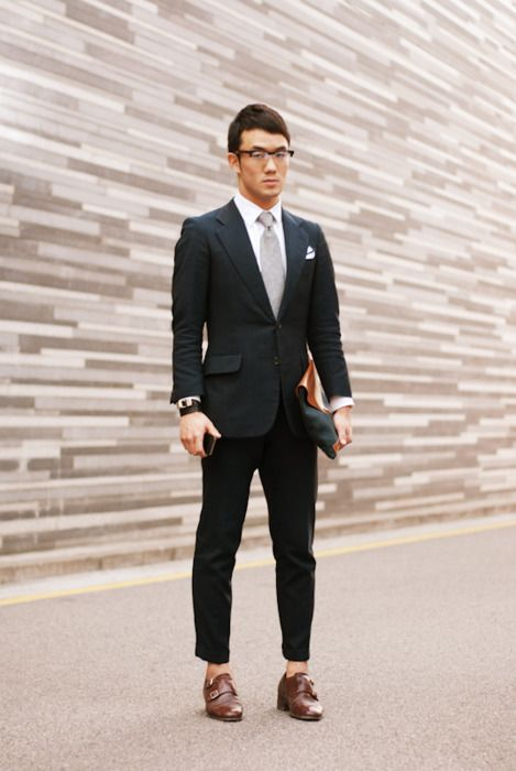 Tailored Black Suit Sockless And Monk Straps Style My Style