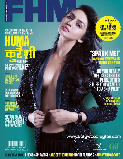 Hotty Huma Qureshi Sizzles the cover FHM India Magazine September 2012
