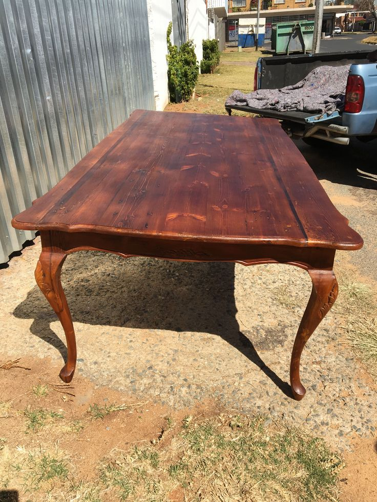 French Style Table in Walnut stain #Reclaimed #Wood #Origon