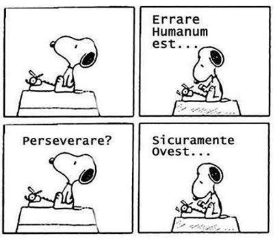 Errare humanum est..