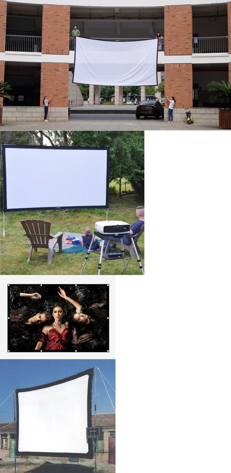Projection Screens and Material: 300 Inch Projection Screen Large For Projector 16:9 3D Foldable Movie Canvas -> BUY IT NOW ONLY: $267.92 on eBay!
