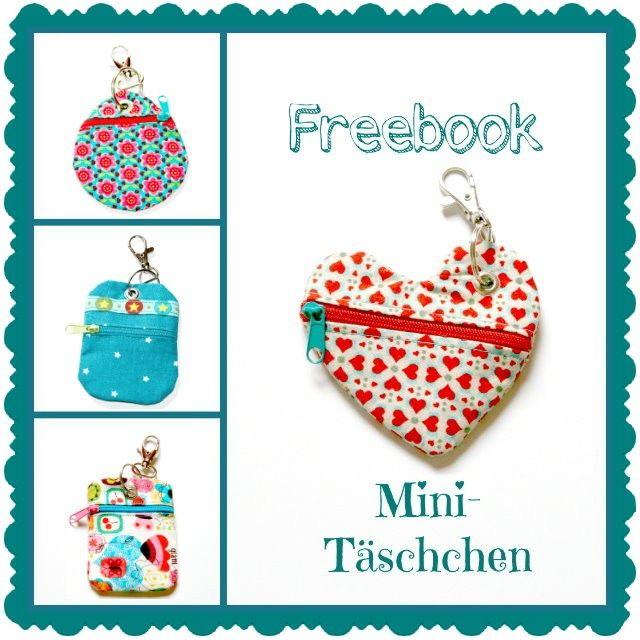 Mini-Täschchen, kleiner Geldbeutel, FREEbook - Schnittmuster, Anleitungen zum Nähen
