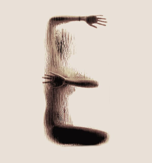 Each image displays the way in which the body turns into one illustrative and choreographic communication channel of a message. The body is cut off from its physical nature and is perceived as an imprint. The body shape becomes a letter through a deliberately abstract and other-worldly aesthetic.