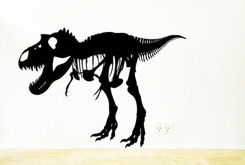 Removable T-Rex wall sticker. Great for dino fans https://www.moonfacestudio.com.au/product-page/t-rex-dinosaur-vinyl-wall-sticker-decal