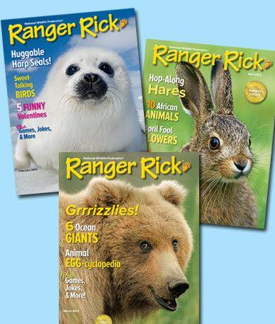 Ranger Rick or Ranger Rick, Jr. for $10 (75% off)