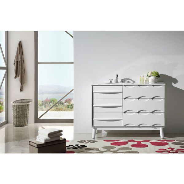 Legion Furniture 48-inch Solid Wood Sink Vanity with Artificial Stone Top