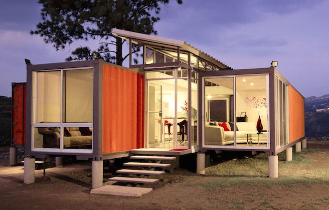 This Ravishing Mod Pad is Actually a $40K Container Home | Curbed --- For twice the cost of one super affordable shipping container home, this $40,000 effort in Costa Rica is three times larger and a cleaner break from the primitive container home look. Designed by architect Benjamin Garcia Saxe ... this project turns two 40-foot long recycled metal boxes into a sleek 1,075-square-foot residence