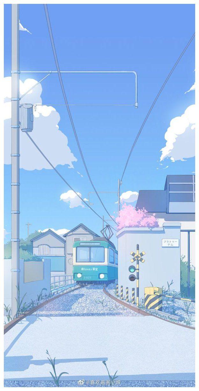 Walpaper Polos Warna Ungu Anime Scenery Wallpaper Anime Backgrounds Wallpapers Anime Background Background pastel polos hd ungu