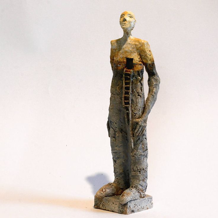 Waiting, loneliness and maybe far 2.21, Ceramic Sculpture, Unique Ceramic Figurine by arekszwed on Etsy