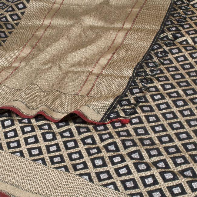 Shivangi Kasliwaal Handwoven Banarasi Cotton Sari 10001028 - AVISHYA.COM