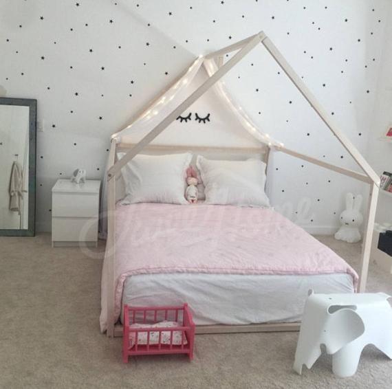 Montessori bambino letti telaio letto Casa Bed House Casa di legno bambini teepee bambino letto vivaio letto piattaforma letto bambini mobili FULL/DOUBLE