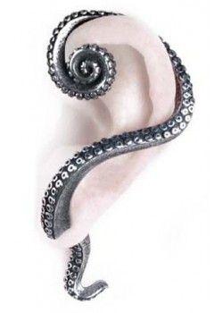 EARRING   Kraken stud Ear-Wrap