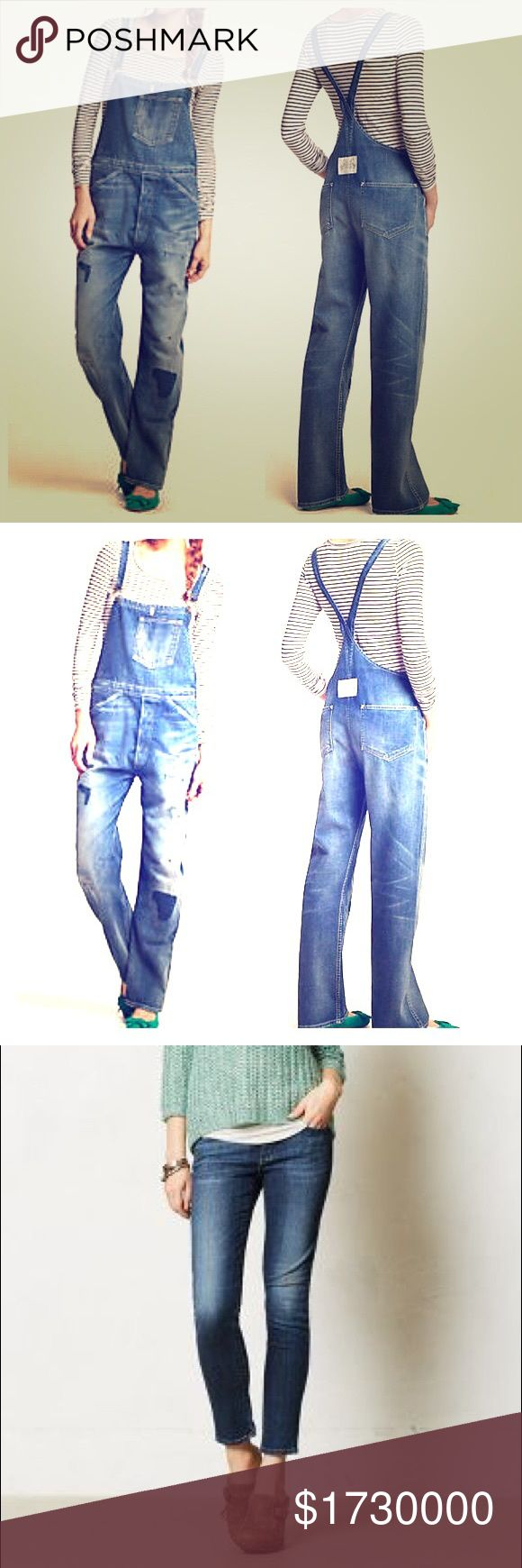 ISO •Paige •AG •Pilcro •Hudson etc. Overalls &  PAIGE - ADRIANO GOLDSCHMIED - PILCRO- HUDSON Denim Overalls & Denim Skinny Jeans. ISO-not for sale. Looking for both of these things in sizes 29-30 ankle/petite lengths. I want oversized overalls, so the size can be larger and brand doesn't matter necessarily for the overalls. And as for the skinny jeans, I'm ISO size 29 or 30 petite length by Paige, A.G. & also like Pilcro & Hudson in various medium/darker washes & darker various fabric like…