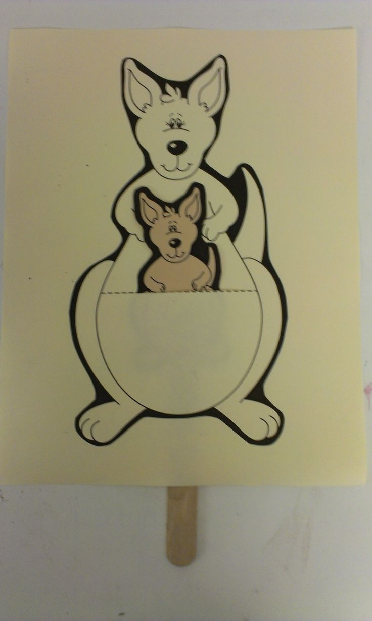 Kangaroo Craft for Preschoolers | pair this story with a Kangaroo craft . You just need to score Mama ...