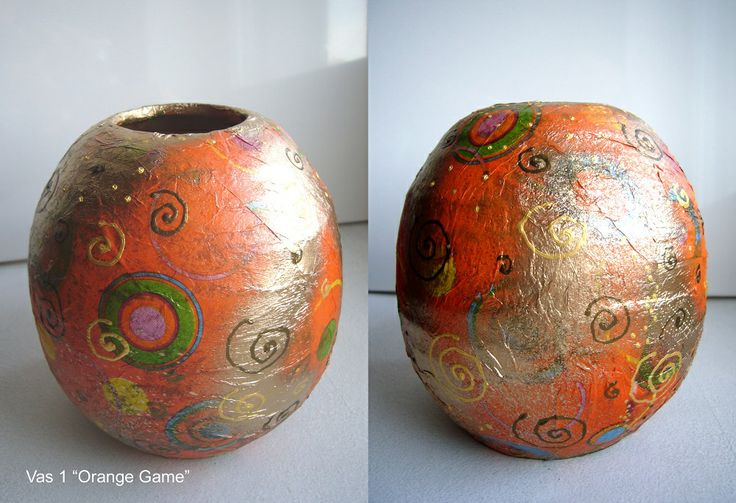 "Ceramic Vase ""Orange Game"""