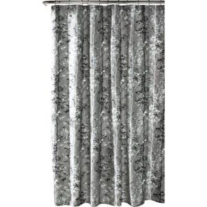 Royal Blue And Gray Shower Curtain