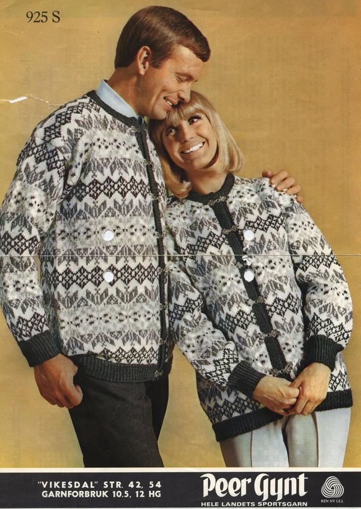 Vikesdal 925 S. Sandnes uldvarefabrik A/S. Denne strikket mamma til pappa og seg tidlig på 70-tallet.