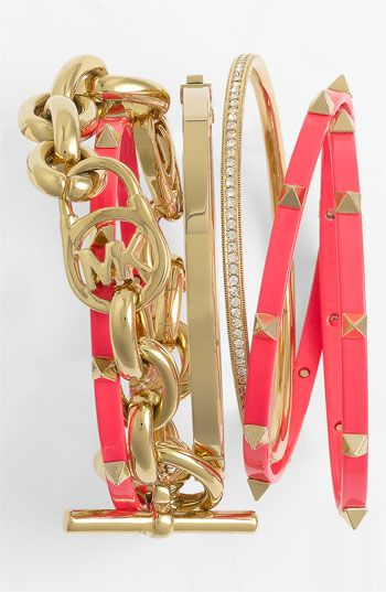 MK stacked bracelets - perfect for summer