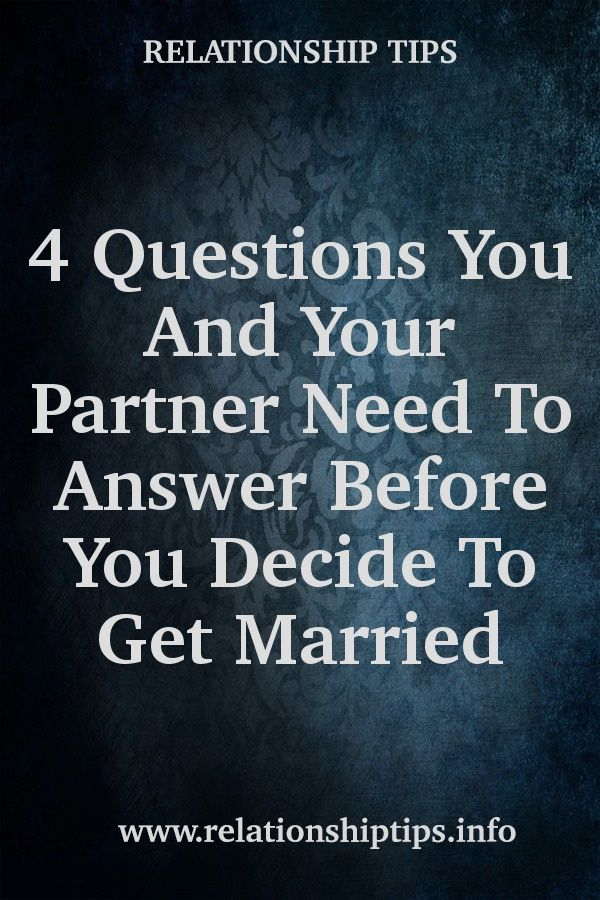 questions to answer before getting married