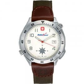 Promotional Products - Wenger® Mens Brown Compass Watch. (Customized with your brand or logo)