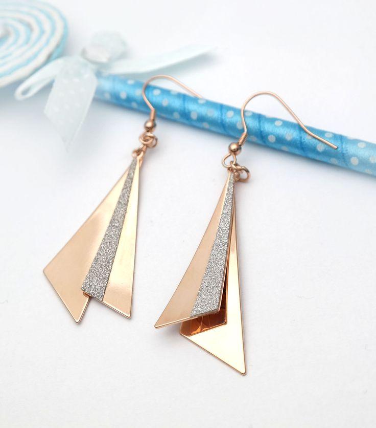 Háromszoros háromszög rose gold nemesacél ragyogás. Részletek: www.princessilver.hu