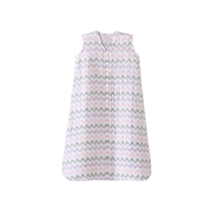 Baby Girl HALO SleepSack Chevron Muslin Wearable Blanket, Size: Medium, Pink
