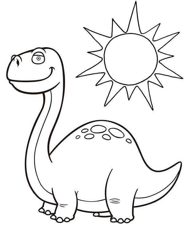 Dinozaur Bajkowa Kolorowanka Dla Dziecka Dinozaur Kolorowanki