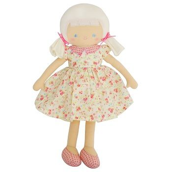 Olive Doll Vintage Cream Floral $48.95 #sweetcreations #baby #toddlers #kids #softtoys #toys #cuddle