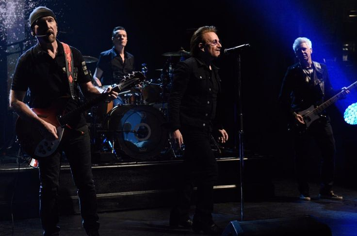 """Irish rock band U2 performed their latest songs """"American Soul"""" and """"Get Out Of Your Own Way"""" on Saturday Night Live."""