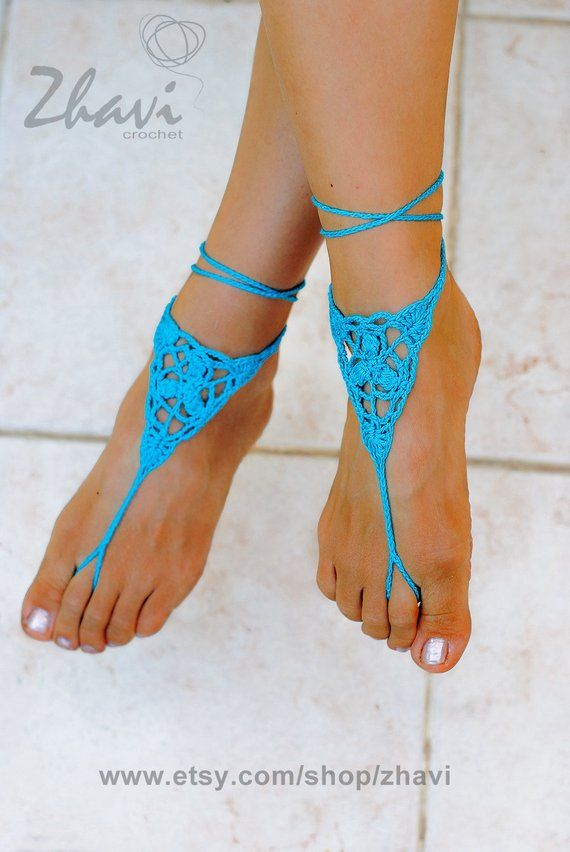 Crochet  barefoot  sandals Beach wedding shoes Beach sandals Beach anklet Summer wedding Summer gift