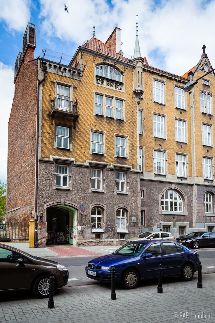 Mid XIX c. school building in Powisle District, Warsaw, Poland