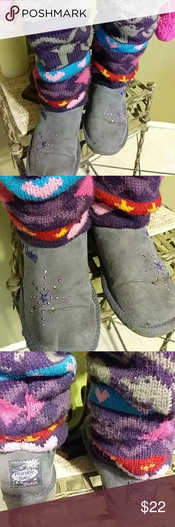 Girls Skecher boots Great for cold winter to come nice condition an the stars sparkle Skechers Shoes Boots