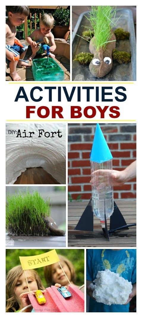 Super fun activities for boys- so many fun ideas!