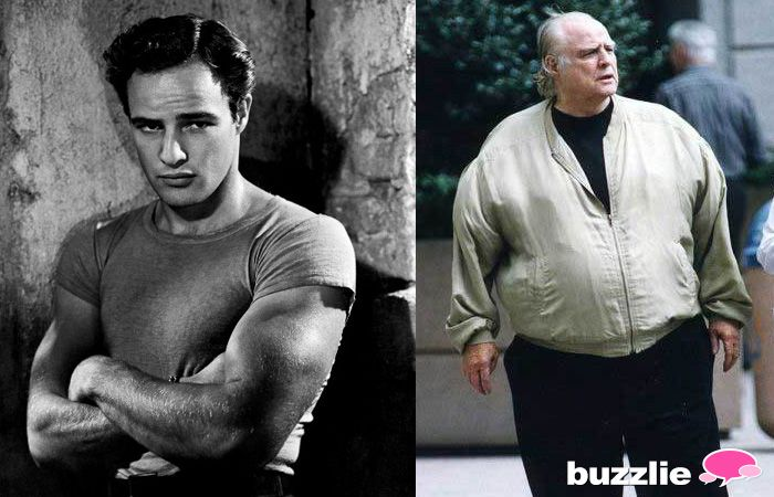 In 1951 & 2013 - The Godfather not only in film, but of film as well. Marlon Brando boasts two Oscars (The Godfather and On the Waterfront), but the last few films of his career were rather duds. He was infamous for not only his size, but his eating habits to boot. Brando would reportedly eat gallons of ice cream, two chickens in one sitting, the list goes on and on. Its pretty clear that toward the end of his long life (1924 – 2004) he just did not give a crap.