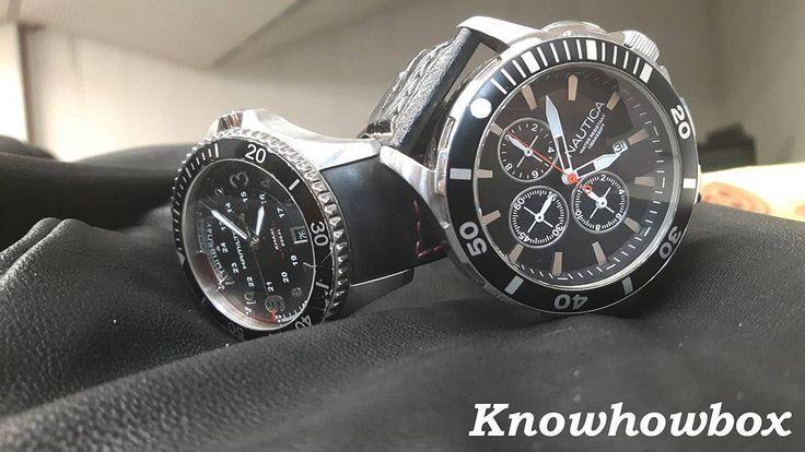 Choose your favourite black timepiece ! @hamiltonwatch or @nautica . . Quale tra i due orologi neri preferisci? @hamiltonwatch oppure @nautica. . . . . . . . . #milleaholic #audemarspiguet #rolex #luxury #richardmille #patekphilippe #hublot #rich #swag #billionaire #panerai #gq #watches #love #instagood #beautiful #photooftheday #instadaily #fashion #tourbillon #chronograph #watchanish #watchporn #thegoodlife #womw #horology #instawatch #like4like #l4p #milleaholic #watchnerd by knowhowbox
