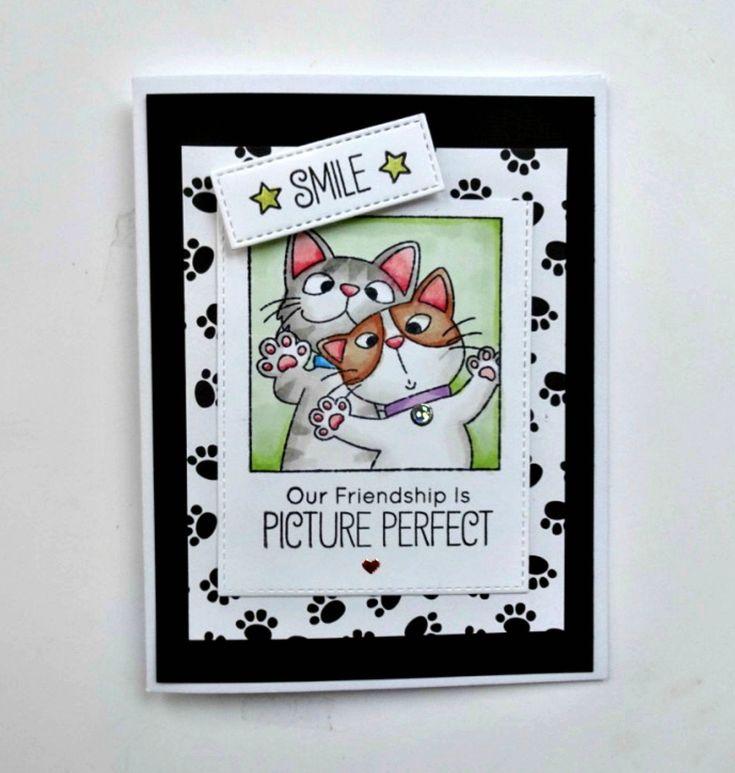 Cute friendship card besties selfies best friend