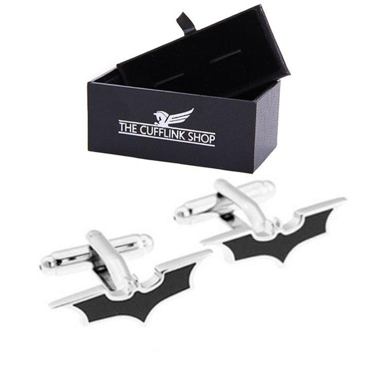Batman super-héros boutons de manchette - coffret cadeau de luxe inclus