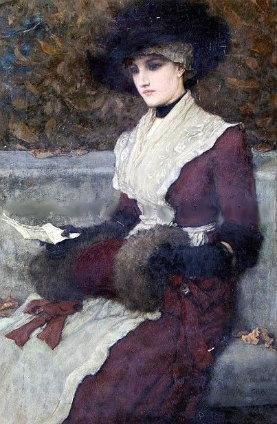 Portrait Of A Lady ~ George Henry Boughton ~ (American: 1833-1905)