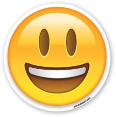 Smiling Face with Open Mouth | Emoji Stickers