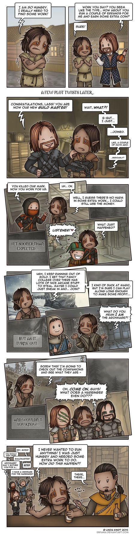 Skyrim: Reluctant Leader by Isriana on DeviantArt