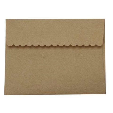 A2 Envelope Kraft Envelope Set of 20 by chickydoddle on Etsy