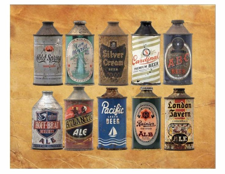Vintage Beer Cans Man Cave Vintage Beer Sign Beer Sign Beer AD 8X10 Photo