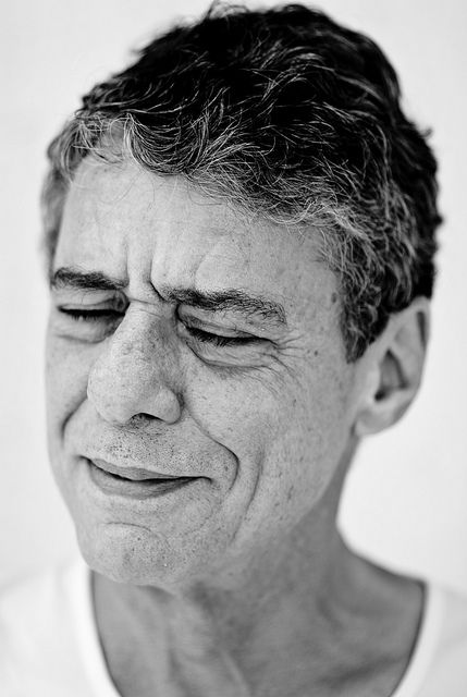 Chico Buarque (born Fransisco Buarque de Hollanda, 1944) - singer, guitarist, composer, dramatist, writer, poet. Photo by Jorge Bispo