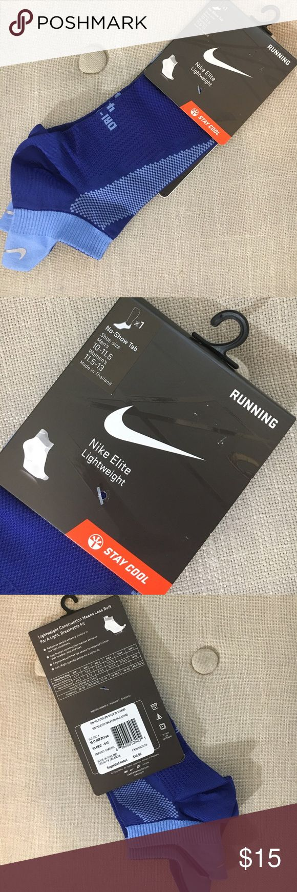 Nike No-Show Tab Running Socks These Nike No-Show Tab Running Socks are Lightweight and new, never been worn! Size is Men's 10-11.5 Or Women's 11.5-13. Color is a very sporty blue and pack includes 1 pair. These are fantastic summer running socks, get them before they're gone! Nike Underwear & Socks Athletic Socks