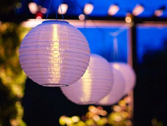 Simple and common, but very sweet  Ikea solar powered lighting 2010 - 2