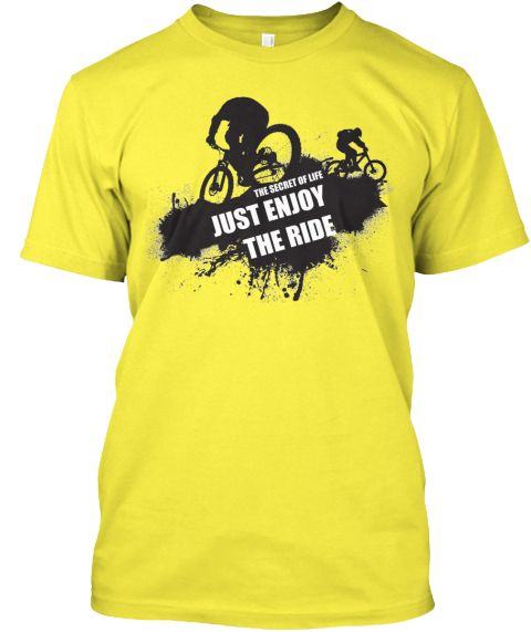 Funny Cycling T Shirts !  Yellow T-Shirt Front