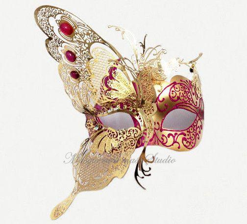 Butterfly Masquerade Mask Luxury Venetian Style Half