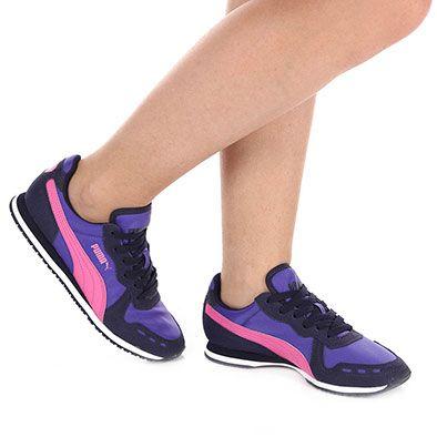 Tênis Jogging Feminino Puma Cabana Racer Fun - Azul