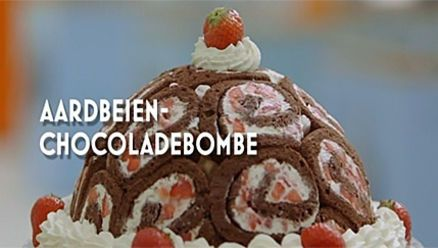 Heel Holland Bakt: Aardbeien-chocoladebombe